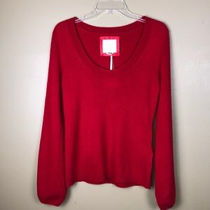 Old Navy NWT red Cashmere sweater size M